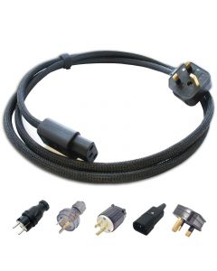 Audiophile Screened IEC Mains Cable. Uk Plug to C13 Kettle Socket