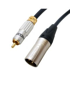 Locking Van Damme Hifi Male Phono Lead