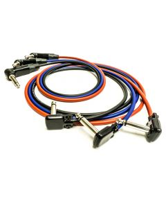 Squareplug Pancake Jack Guitar Cable. SP400, Neutrik, Lightweight Van Damme Lead
