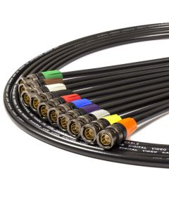 Van Damme 1080i HD-SDI 1.5G Flexible Video Coax Cable. Neutrik BNC