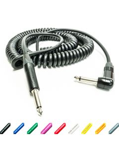 Van Damme Curly Guitar Cable. Neutrik Jack to Jack Lead. STUDIO GRADE. 70cm > 2.5m