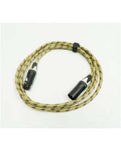 6m Van Damme Red Microphone Cable, Right Angled to Straight TRS Stereo Gold Jack.