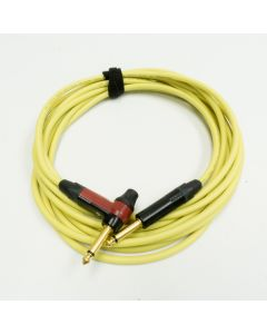 5m Yellow Neutrik Timbre Lead. Van Damme Guitar Cable, with EQ