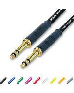 Gold Neutrik TT Bantam Jack Patch Lead. Balanced 4.4mm TRS Plugs. Van Damme Cables.