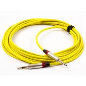 2 Meter Van Damme Red Instrument Cable, Neutriks Timbre Jack to Straight Gold Mono Jack
