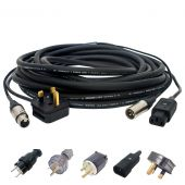 Combined Power & Signal Cable. Active Speaker Audio & Mains Hybrid. 13 amp Lead