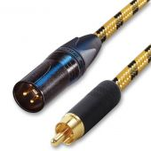 Gold Plated RCA to Male XLR Vintage