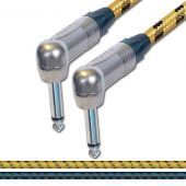 Sommer SC Classique Vintage Cable. Unbalanced Angled Mono Jack to Jack Lead.