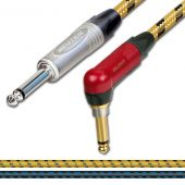 Neutrik Silent (muting) Jack to Jack Guitar Lead. Sommer SC Classique Vintage Cable.